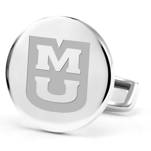 University of Missouri Cufflinks in Sterling Silver - Image 2