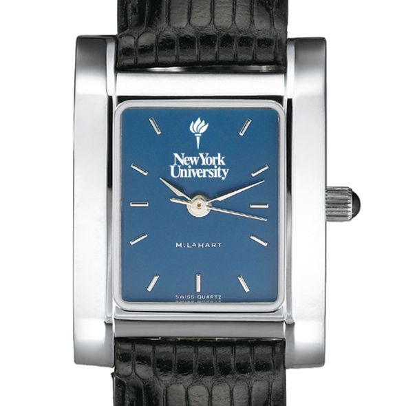 NYU Women's Blue Quad Watch with Leather Strap