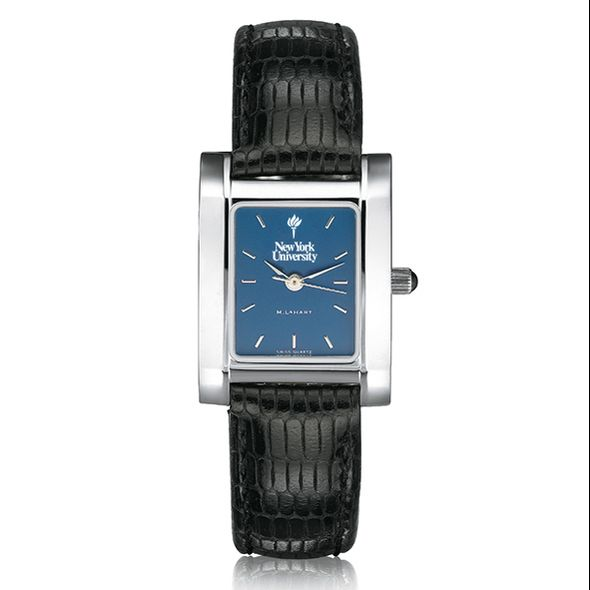 NYU Women's Blue Quad Watch with Leather Strap - Image 2