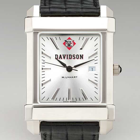 Davidson College Men's Collegiate Watch with Leather Strap