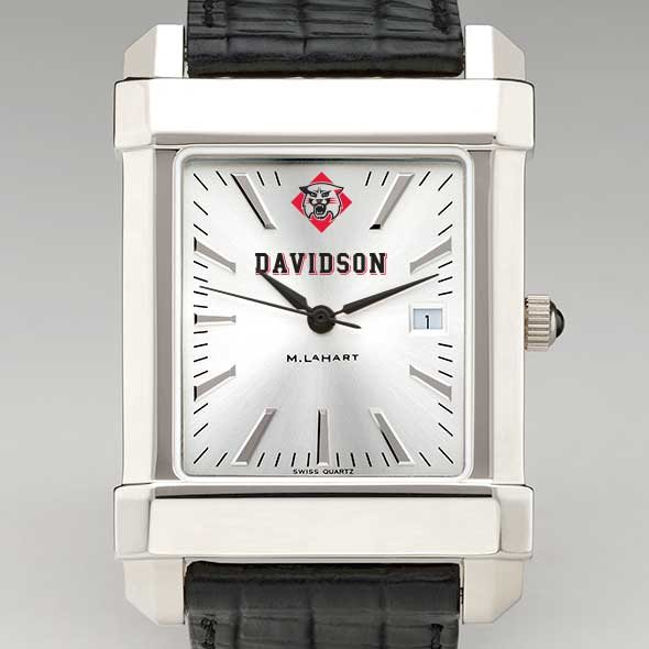 Davidson College Men's Collegiate Watch with Leather Strap