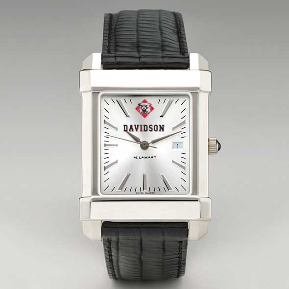 Davidson College Men's Collegiate Watch with Leather Strap - Image 2