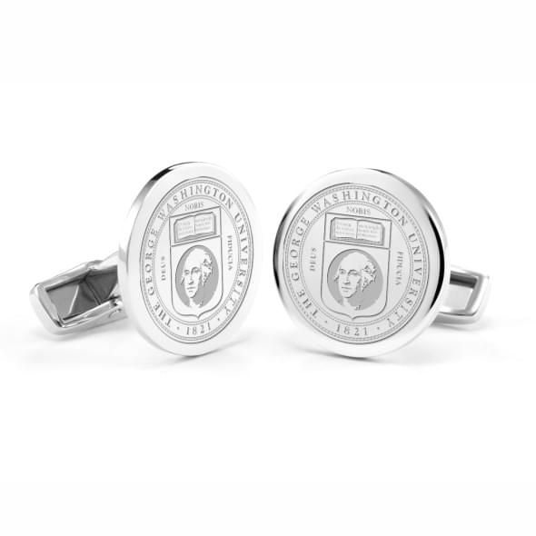 George Washington University Cufflinks in Sterling Silver - Image 1