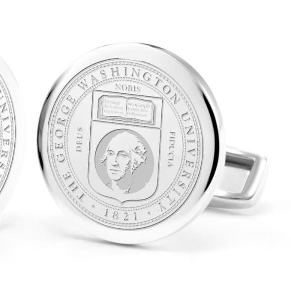 George Washington University Cufflinks in Sterling Silver - Image 2
