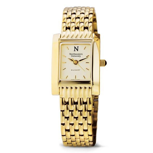 Northwestern Women's Gold Quad Watch with Bracelet - Image 2