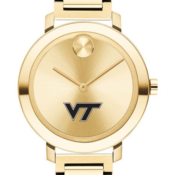 Virginia Tech Women's Movado Gold Bold 34