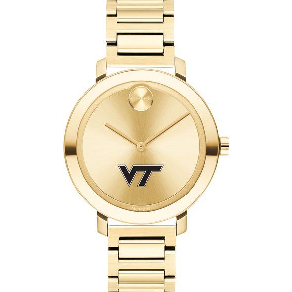 Virginia Tech Women's Movado Gold Bold 34 - Image 2