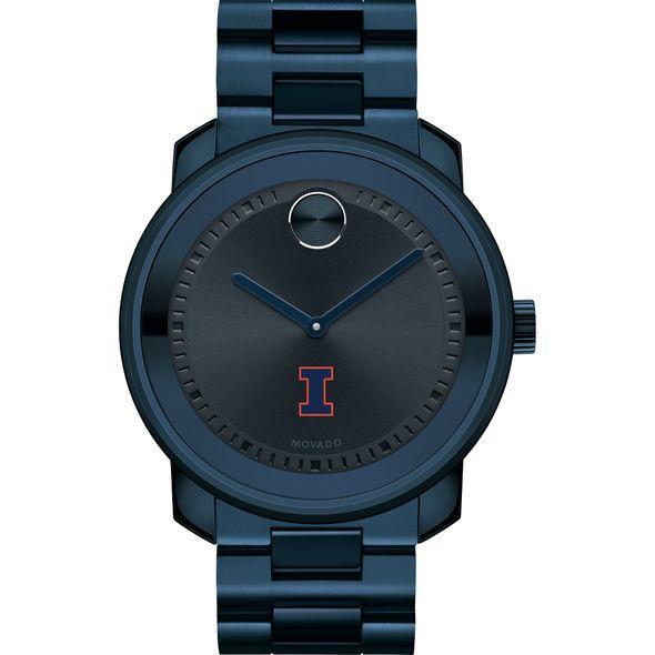University of Illinois Men's Movado BOLD Blue Ion with Bracelet - Image 2