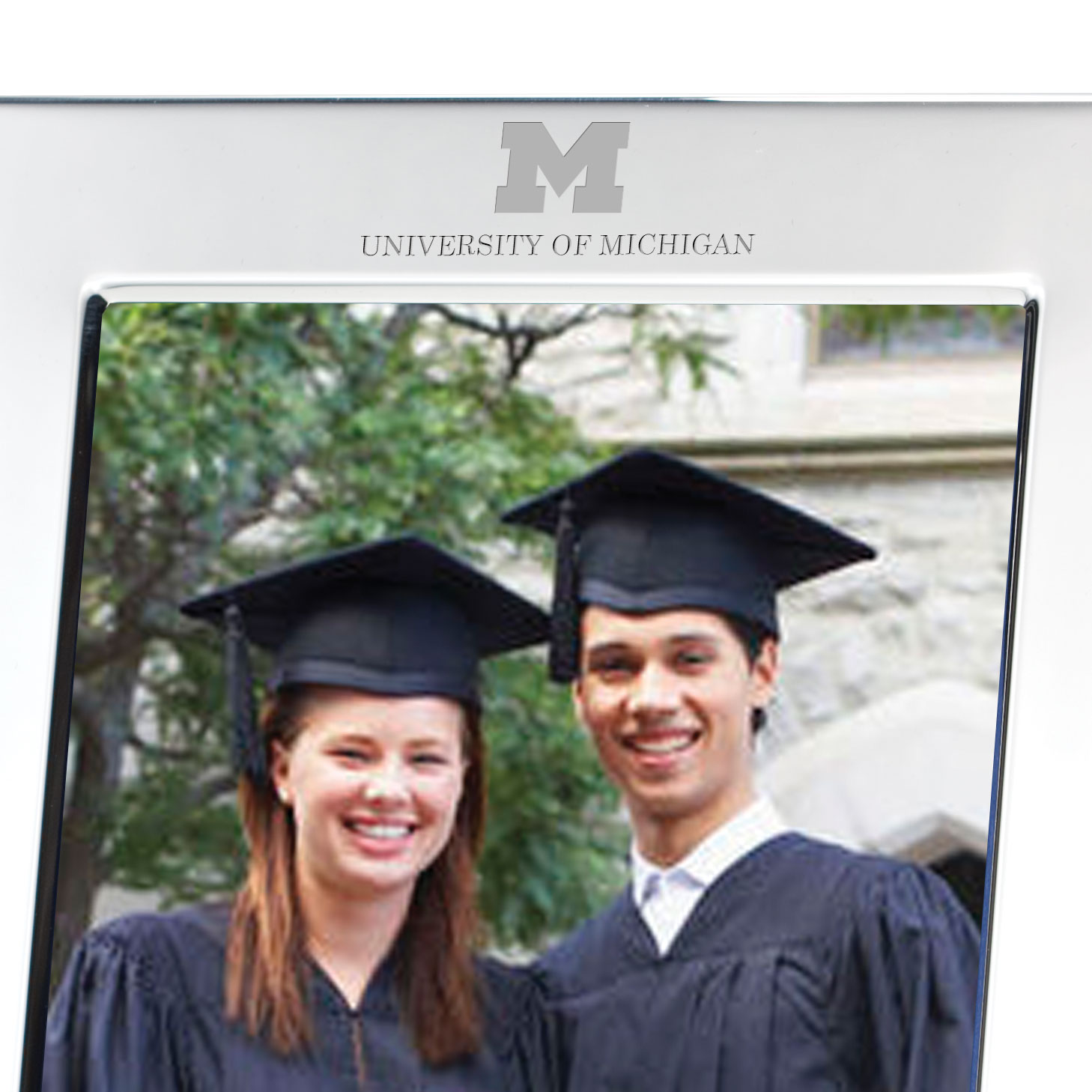 Michigan Polished Pewter 5x7 Picture Frame - Image 2