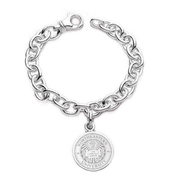 Northeastern Sterling Silver Charm Bracelet - Image 1