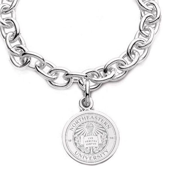 Northeastern Sterling Silver Charm Bracelet - Image 2