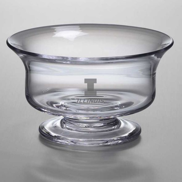 University of Illinois Simon Pearce Glass Revere Bowl Med