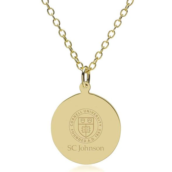 SC Johnson College 18K Gold Pendant & Chain