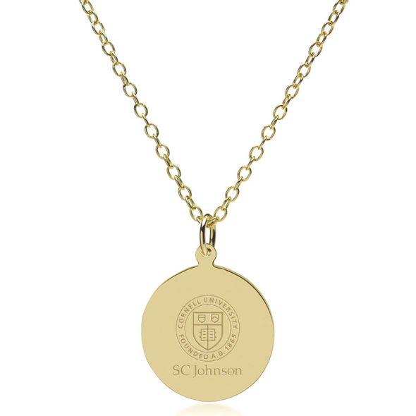 SC Johnson College 18K Gold Pendant & Chain - Image 2