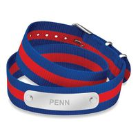 University of Pennsylvania Double Wrap NATO ID Bracelet