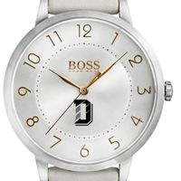 Davidson College Women's BOSS White Leather from M.LaHart