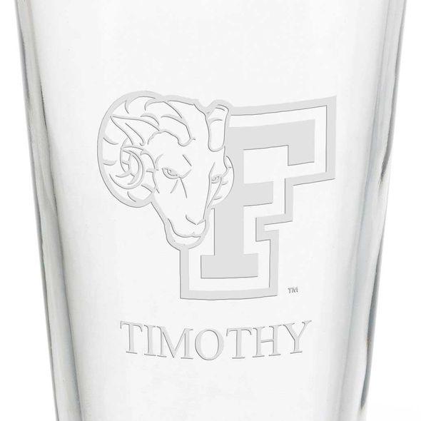 Fordham University 16 oz Pint Glass - Image 3