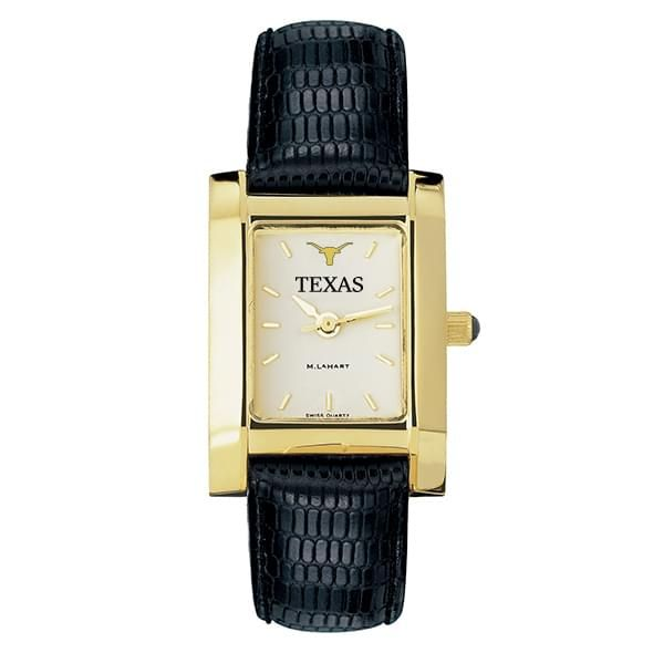 Texas Women's Gold Quad Watch with Leather Strap - Image 2