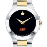 Oklahoma State Women's Movado Collection Two-Tone Watch with Black Dial