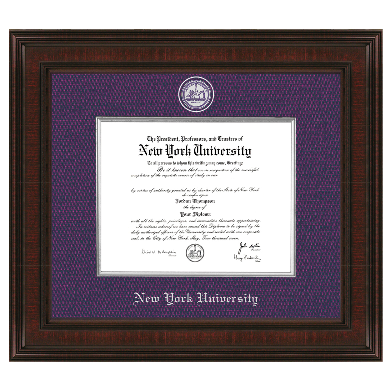 New York University Diploma Frame - Excelsior | Graduation Gift