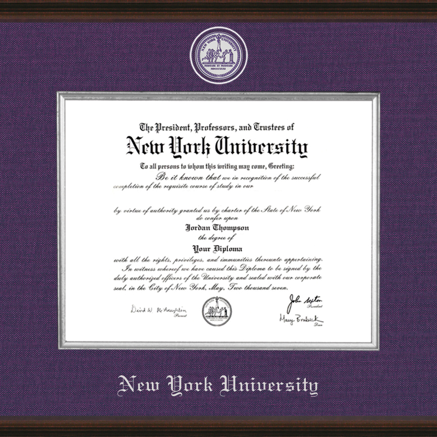 New York University Diploma Frame Excelsior Graduation