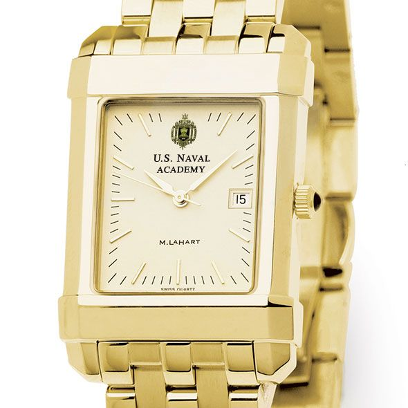 USNA Men's Gold Quad Watch with Bracelet