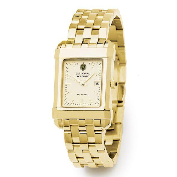 USNA Men's Gold Quad Watch with Bracelet - Image 2