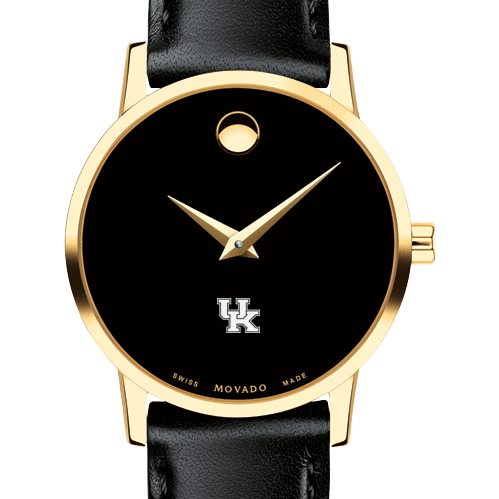 Kentucky Women's Movado Gold Museum Classic Leather
