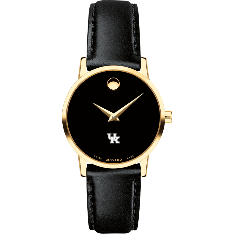 Kentucky Women's Movado Gold Museum Classic Leather - Image 2