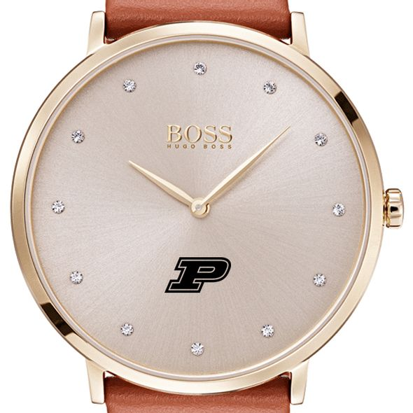 Purdue University Women's BOSS Champagne with Leather from M.LaHart