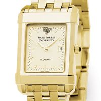 Wake Forest Men's Gold Quad Watch with Bracelet