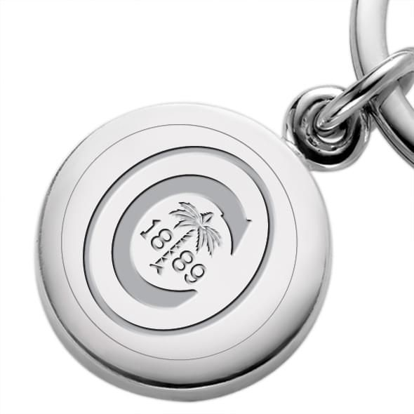 Clemson Sterling Silver Insignia Key Ring - Image 2