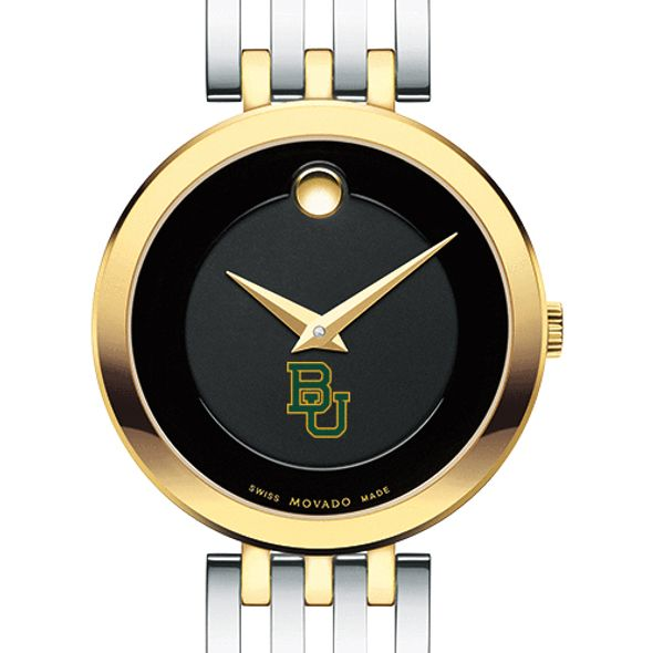 Baylor University Women's Movado Esparanza Two-Tone Museum with Bracelet