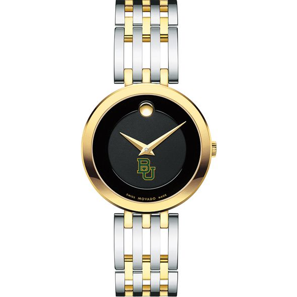 Baylor University Women's Movado Esparanza Two-Tone Museum with Bracelet - Image 2