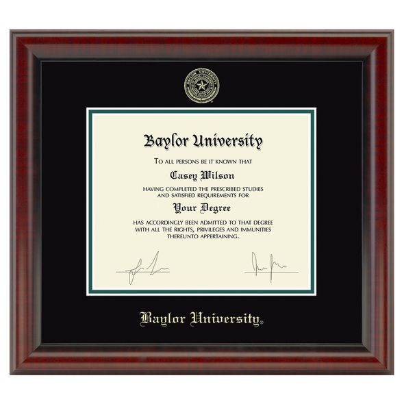 Baylor University Diploma Frame, the Fidelitas