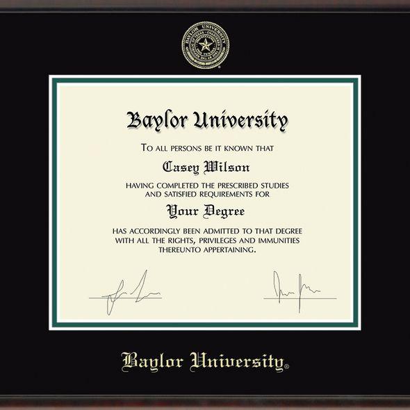 Baylor University Diploma Frame, the Fidelitas - Image 2