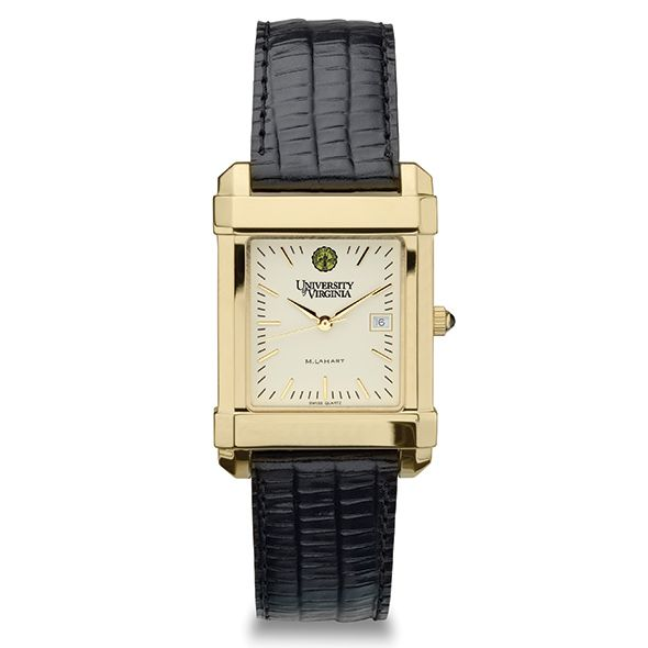 UVA Men's Gold Quad Watch with Leather Strap - Image 2