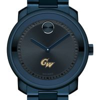 George Washington University Men's Movado BOLD Blue Ion with Bracelet