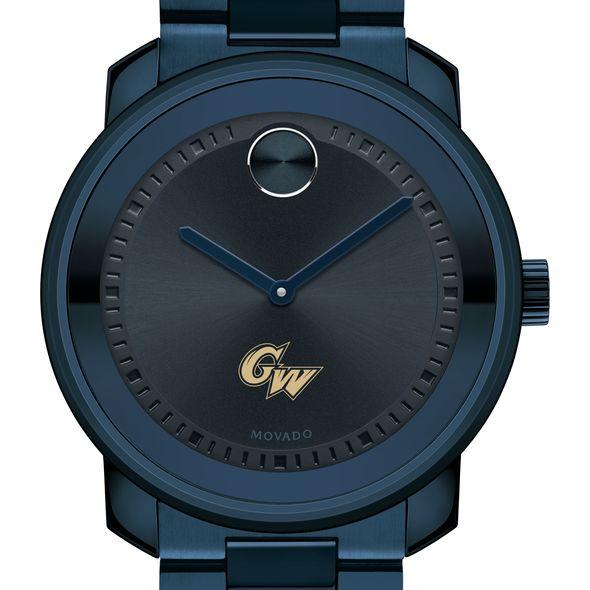 George Washington University Men's Movado BOLD Blue Ion with Bracelet
