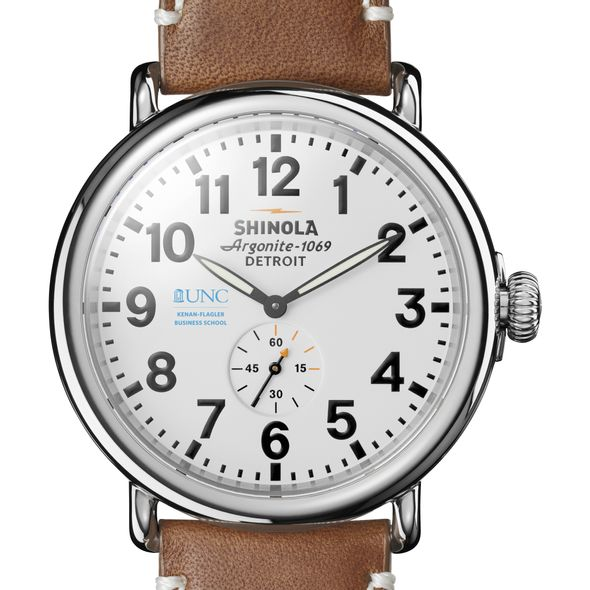UNC Kenan-Flagler Shinola Watch, The Runwell 47mm White Dial