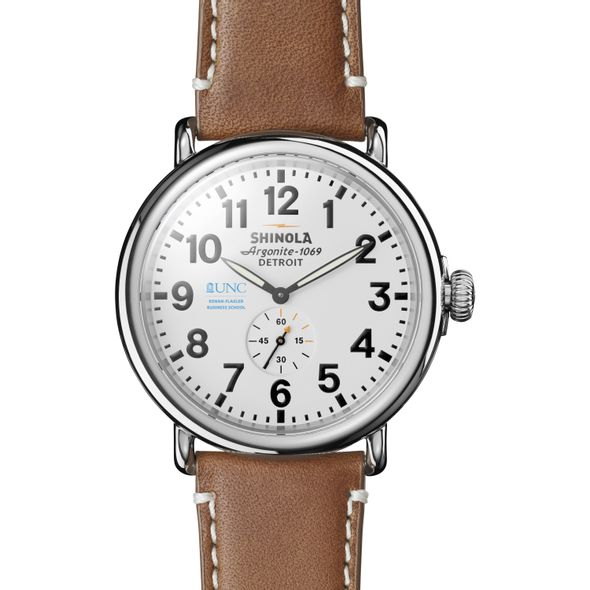 UNC Kenan-Flagler Shinola Watch, The Runwell 47mm White Dial - Image 2