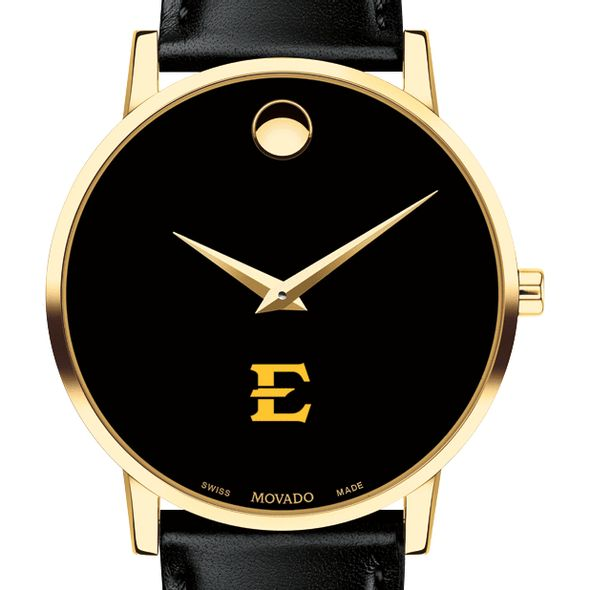 East Tennessee State University Men's Movado Gold Museum Classic Leather
