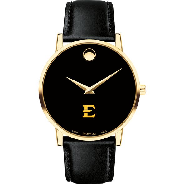 East Tennessee State University Men's Movado Gold Museum Classic Leather - Image 2