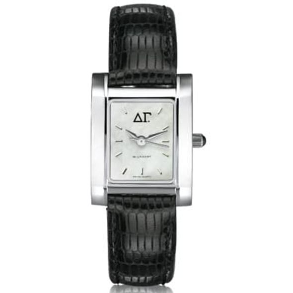 Delta Gamma Women's Mother of Pearl Quad Watch with Leather Strap - Image 1