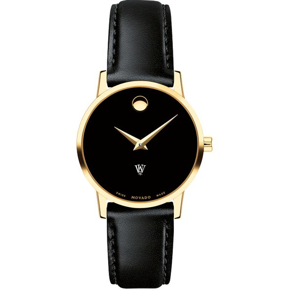 WashU Women's Movado Gold Museum Classic Leather - Image 2