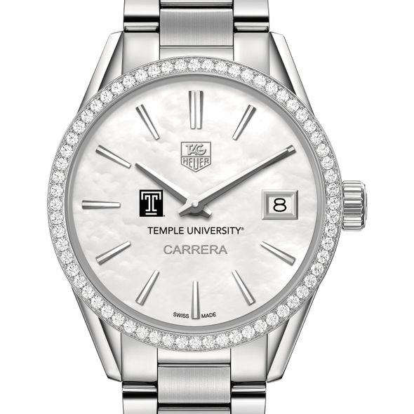 Temple Women's TAG Heuer Steel Carrera with MOP Dial & Diamond Bezel - Image 1