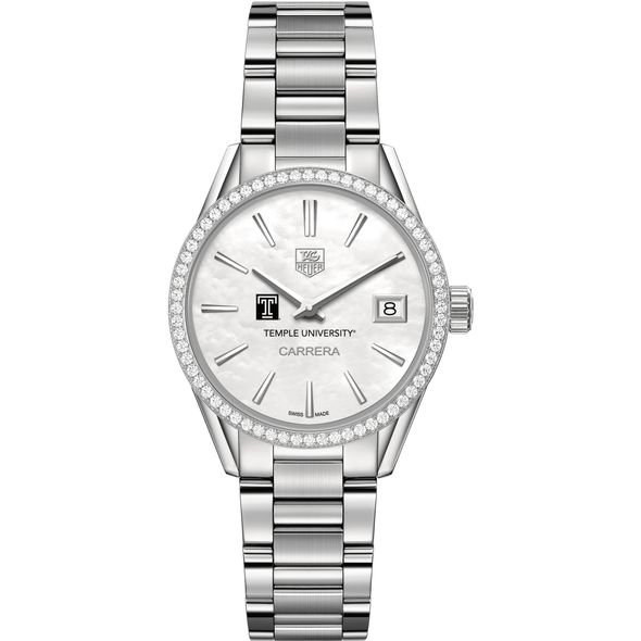 Temple Women's TAG Heuer Steel Carrera with MOP Dial & Diamond Bezel - Image 2