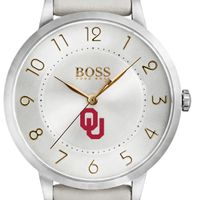 University of Oklahoma Women's BOSS White Leather from M.LaHart