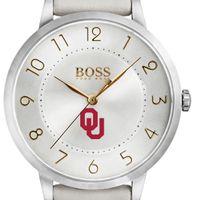 University of Oklahoma Women's BOSS White Leather from M.LaHart