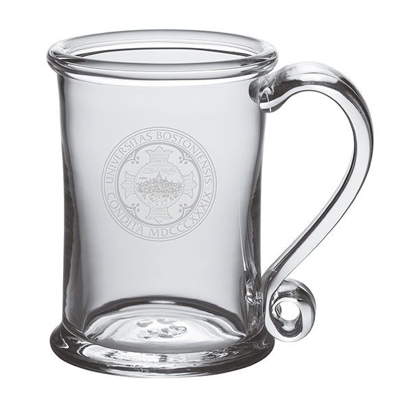Boston University Glass Tankard by Simon Pearce